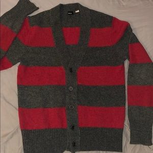 Urban Outfitters Vintage grey& Red Cardigan